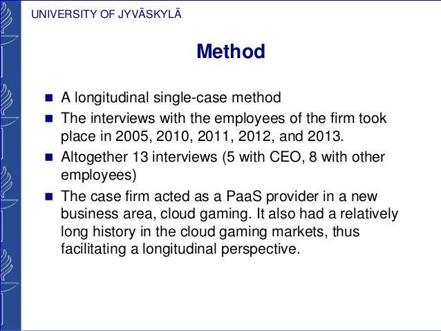 longitudinal case study