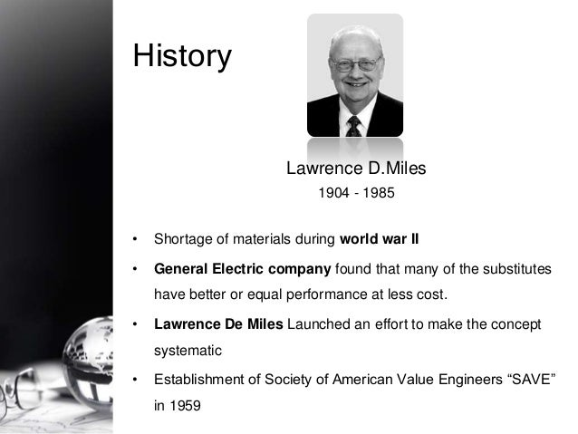 techniques of value analysis and engineering by lawrence d miles