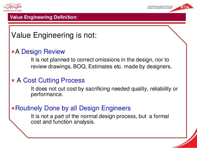 Value Engineering And Application
