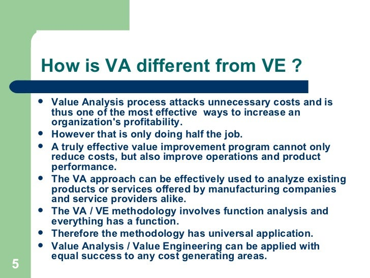 difference between value engineering and value management