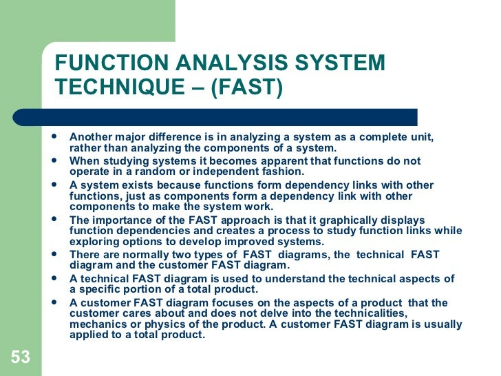 value engineering and value analysis To identify and develop value and innovation, both government agencies and   also known as value engineering, value analysis and value management, the.
