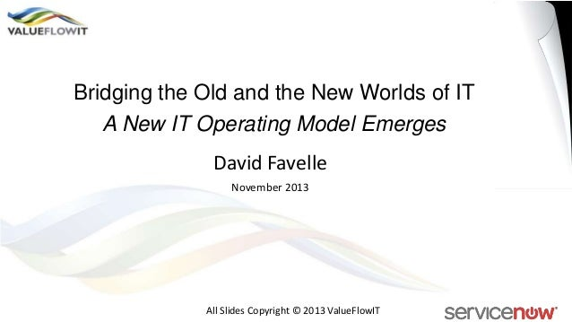 Bridging the Old and the New Worlds of IT A New IT Operating Model Emerges  David Favelle November 2013  All Slides Copyri...
