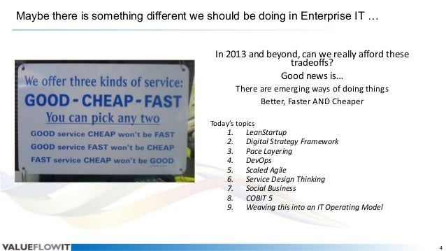Maybe there is something different we should be doing in Enterprise IT … In 2013 and beyond, can we really afford these tr...