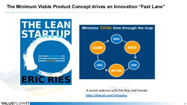 """The Minimum Viable Product Concept drives an Innovation """"Fast Lane""""  A recent webinar with Eric Ries and friends: http://t..."""