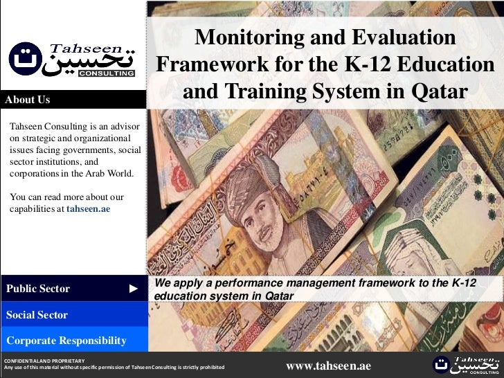 Monitoring and Evaluation                                                                  Framework for the K-12 Educatio...