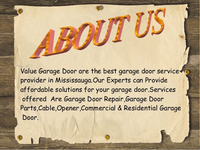 Superior Value Garage Door ...