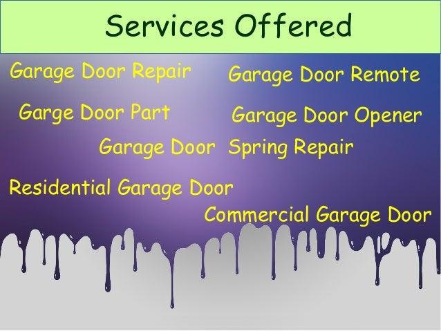 Garage Door ...