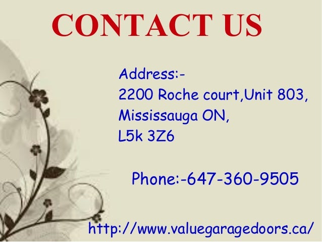 ... Garage Door Services For Our Clients. 8.