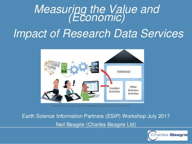 Earth Science Information Partners (ESIP) Workshop July 2017 Neil Beagrie (Charles Beagrie Ltd) Measuring the Value and (E...