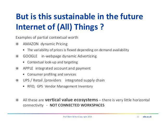 But is this sustainable in the future Internet of (All) Things ? Examples of partial contextual worth AMAZON dynamic Prici...