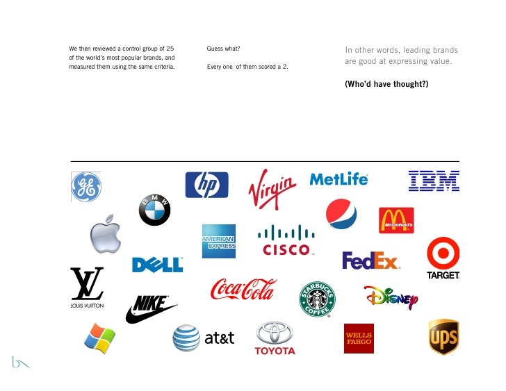 We then reviewed a control group of 25    Guess what?                     In other words, leading brands of the world's mo...