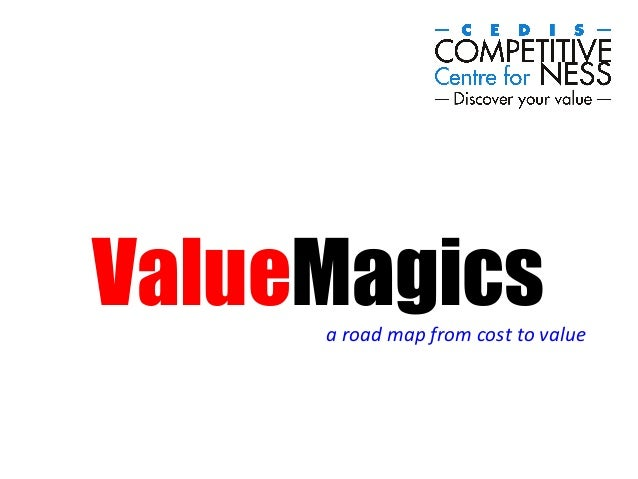 ValueMagicsa  road  map  from  cost  to  value