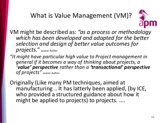 Apm Presents Why Value Management Might Reveal Just What