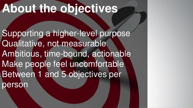 www.luxoft.com About the objectives Supporting a higher-level purpose Qualitative, not measurable Ambitious, time-bound, a...