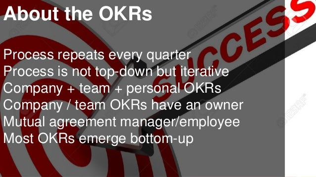 www.luxoft.com About the OKRs Process repeats every quarter Process is not top-down but iterative Company + team + persona...