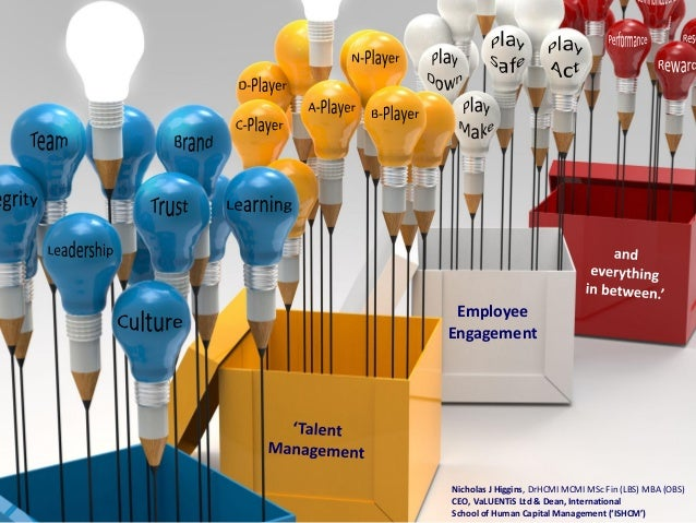 Employee Engagement  Nicholas J Higgins, DrHCMI MCMI MSc Fin (LBS) MBA (OBS) CEO, VaLUENTiS Ltd & Dean, International Scho...