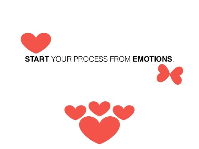 START YOUR PROCESS FROM EMOTIONS.