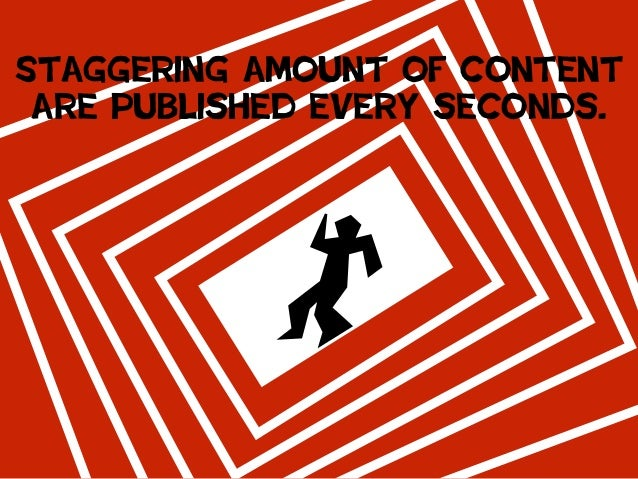 Staggering amount of content are published every seconds.