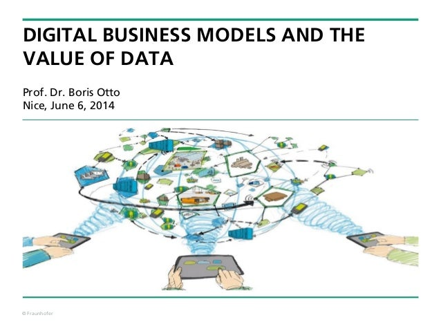 © Fraunhofer DIGITAL BUSINESS MODELS AND THE VALUE OF DATA Prof. Dr. Boris Otto Nice, June 6, 2014