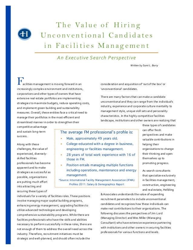 T h e Va l u e o f H i r i n g                                           Unconventional Candidates                        ...