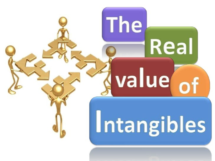 The<br />Real<br />value<br />of<br />Intangibles<br />
