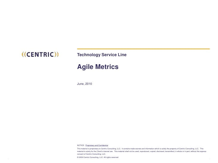 Technology Service LineAgile Metrics<br />June, 2010<br />