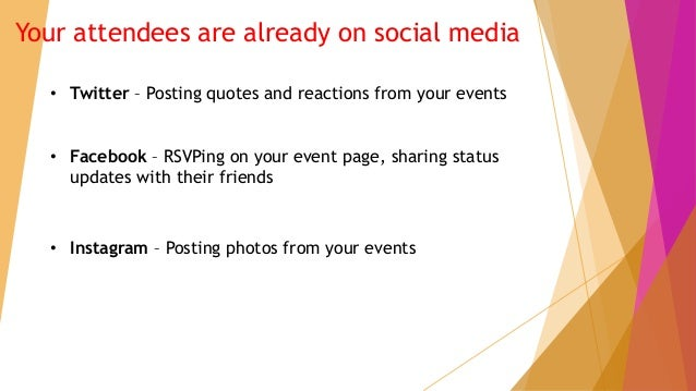 The Value of a Social Media Event Display Slide 2