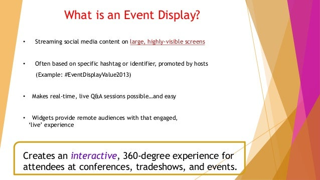 The Value of a Social Media Event Display Slide 3