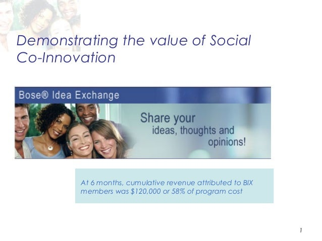 Demonstrating the value of SocialCo-Innovation         At 6 months, cumulative revenue attributed to BIX         members w...