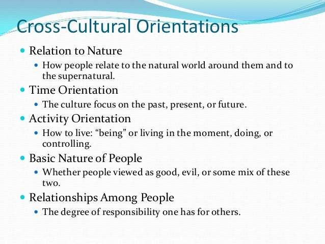 Kluckholn and Strodtbeck's Dimensions of Culture