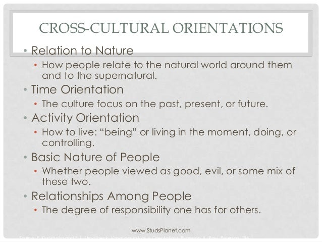 kluckhohn and strodtbeck According to kluckhohn and strodtbeck (1961), every culture faces the same  basic survival needs and must answer the same universal questions it is out of  this.