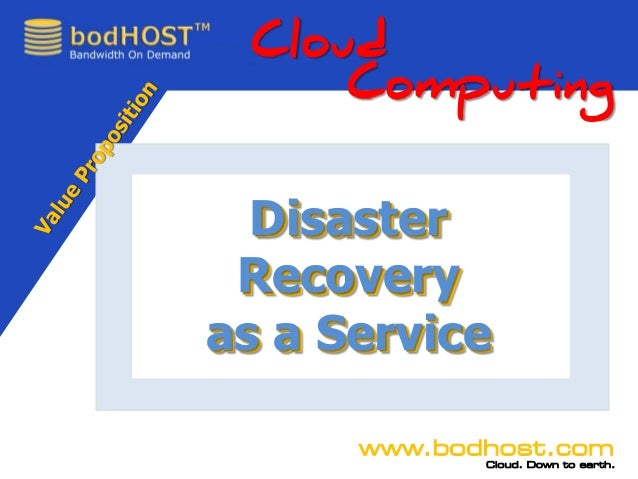 Call888.453.0014www.bodhost.comCloud. Down to earth.DisasterRecoveryas a ServiceCloudComputingDisasterRecoveryas a Service