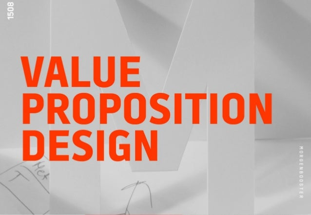 VALUE PROPOSITION DESIGN MORGENBOOSTER 2015