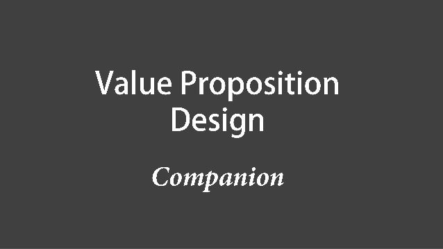 Value Map 價值地圖 Customer Profile 顧客側寫圖