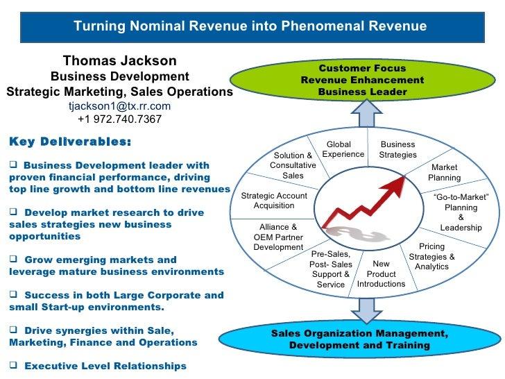 <ul><li>Key Deliverables: </li></ul><ul><li>Business Development leader with proven financial performance, driving top lin...