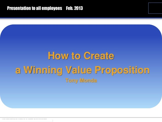 the five winning value propositions The customer value proposition differentiation through the eyes of your customer pamela hudadoff dedicated to making expert marketing techniques more accessible.