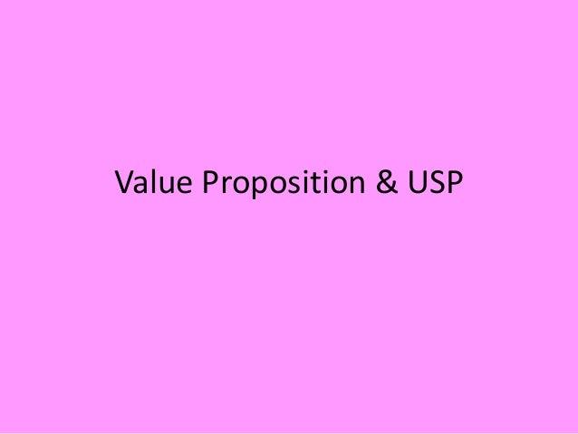 Value Proposition & USP