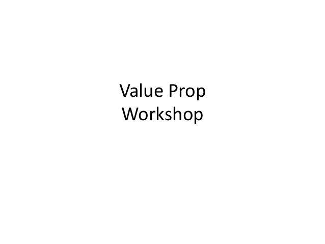 Value Prop Workshop