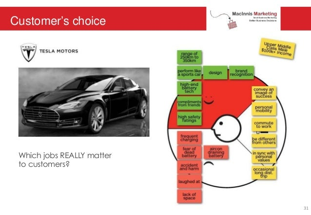 Customer's choice Which jobs REALLY matter to customers? 31