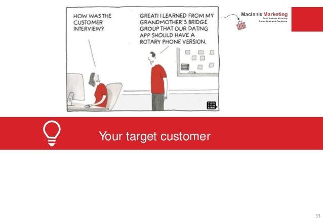 Your target customer 33