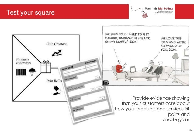 Test your square Provide evidence showing that your customers care about how your products and services kill pains and cre...