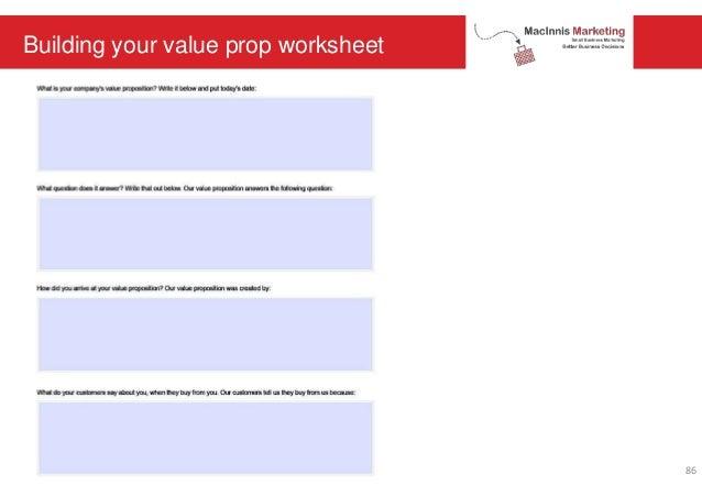 Building your value prop worksheet 86