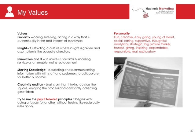 My Values Personality Fun, creative, easy going, young at heart, social, caring, supportive, thoughtful, analytical, strat...