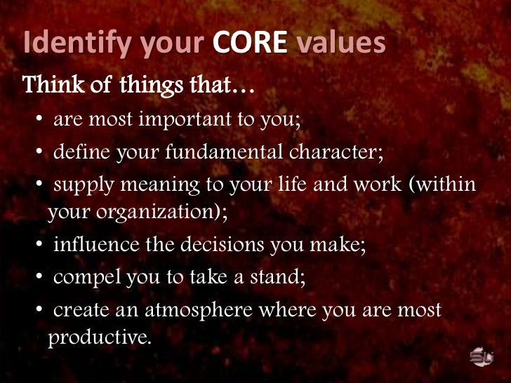 VALUES-BASED leadership<br /><ul><li>Values are always used as a basis for a group's operation.