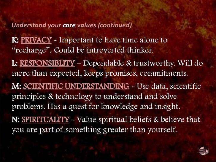 Universalism (concern for the welfare of all people).</li></li></ul><li>VALUE-BASED leadership<br />Organizational values:...