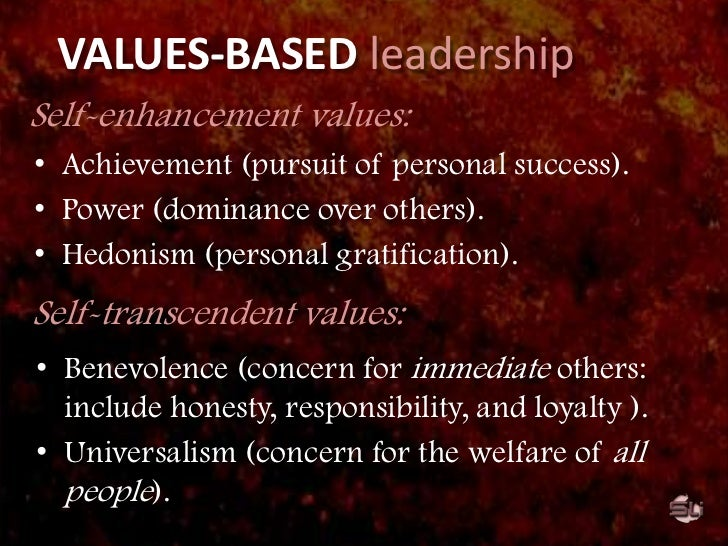 Focusing on values can help leaders steer others towards new strategy/vision/goals.