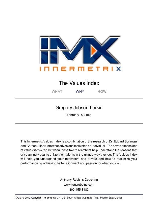 The Values Index                             WHAT               WHY              HOW                                Gregor...