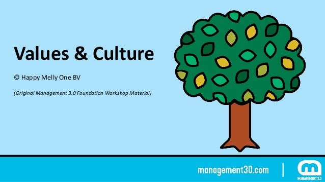 Values	&	Culture ©	Happy	Melly	One	BV (Original	Management	3.0	Foundation	Workshop	Material)