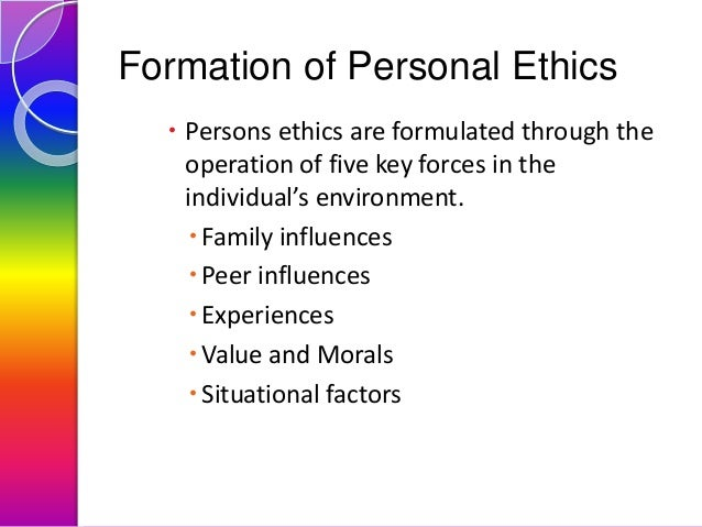 which factors influence the code of ethics Ethics influence human behavior by helping people make informed decisions and affecting the way they relate to other people ethics also determine how seriously individuals take their roles individuals normally make decisions based on a number of factors, including their own beliefs or morals if a.