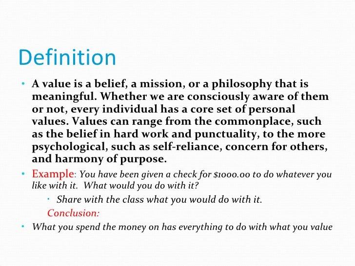values definition sociology